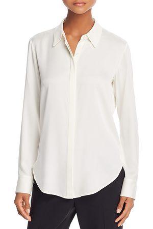 THEORY Sunaya Stretch-Silk Shirt