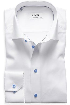Eton Blue Button Regular Fit Dress Shirt