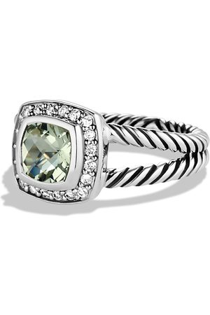 David Yurman Petite Albion Ring with Prasiolite & Diamonds