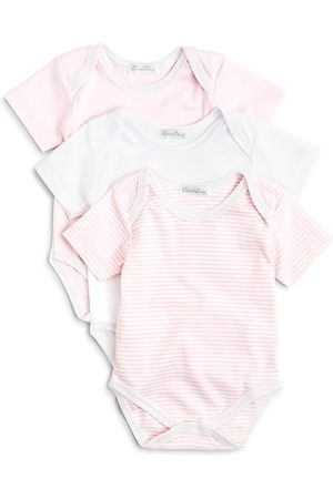 Kissy Kissy Girls' Stripe & Solid Bodysuit, 3 Pack - Baby