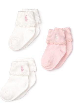 Ralph Lauren Girls' Layette Scallop-Trim Socks, 3 Pack - Baby
