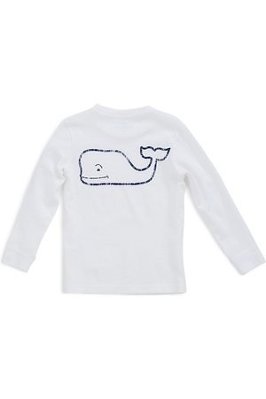 Vineyard Vines Boys' Long-Sleeve Vintage Whale Pocket Tee - Little Kid, Big Kid