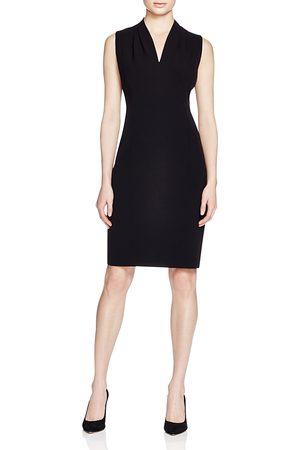 ELIE TAHARI Tonya Pleat-Shoulder Dress