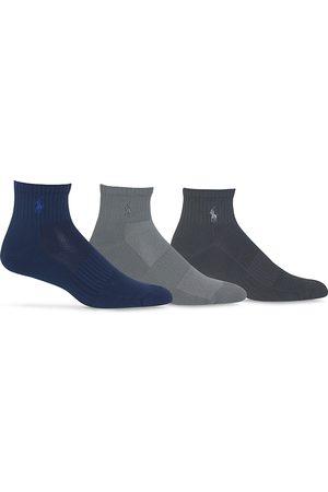 Ralph Lauren Quarter Sport Socks, Pack of 3