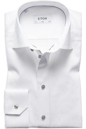 Eton Gray Button Slim Fit Dress Shirt