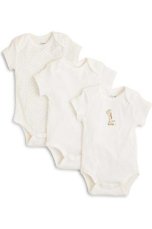 Little Me Unisex Giraffe Bodysuit, 3 Pack - Baby