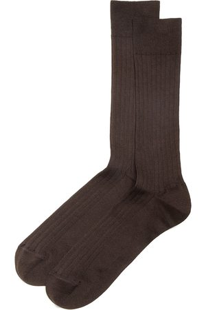 Bloomingdale's Ribbed Cotton Blend Socks - 100% Exclusive