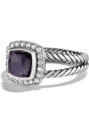 David Yurman Petite Albion Ring with Orchid & Diamonds