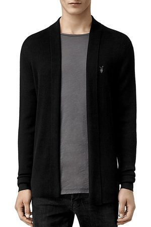 AllSaints Mode Merino Wool Open Cardigan Sweater