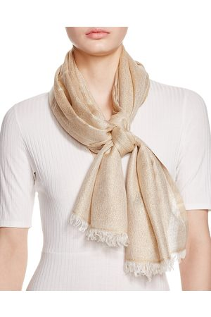 Aqua Solid Metallic Scarf - 100% Exclusive