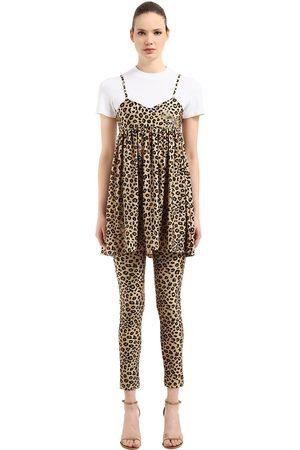 VIVETTA LEOPARD PRINTED DRESS & T-SHIRT