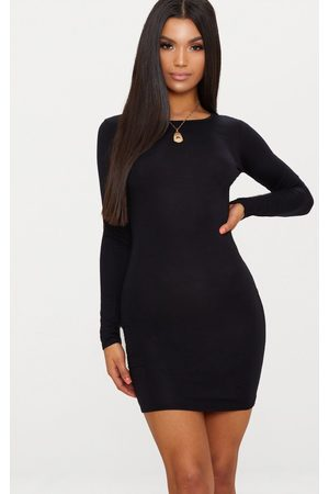 PRETTYLITTLETHING Basic Jersey Long Sleeve Bodycon Dress
