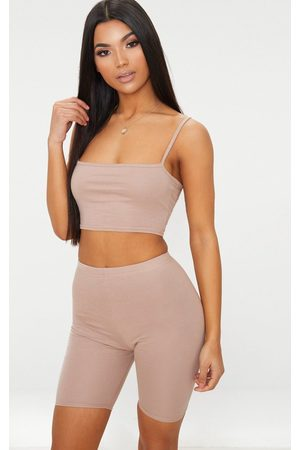 PRETTYLITTLETHING Taupe Bike Shorts
