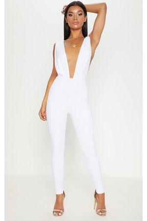 PrettyLittleThing Women Jumpsuits - Bandage Plunge Jumpsuit