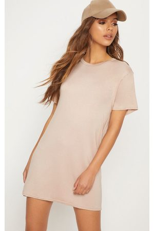 PRETTYLITTLETHING Basic Nude Short Sleeve T Shirt Dress