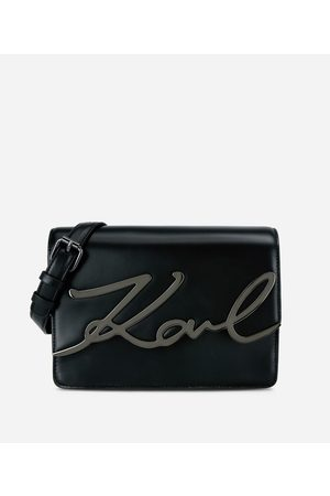 Karl Lagerfeld K/Signature Leather Shoulder Bag