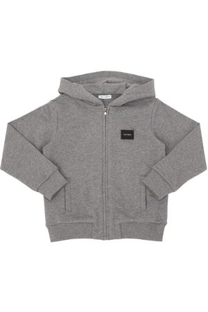 Dolce & Gabbana ZIP-UP COTTON SWEATSHIRT HOODIE