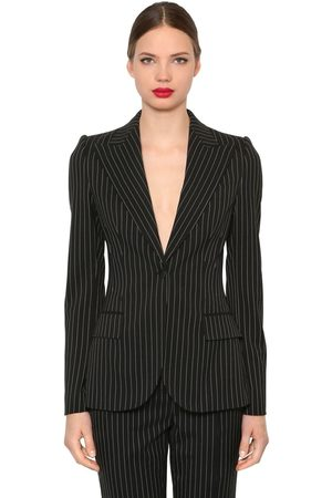 Dolce & Gabbana PINSTRIPED STRETCH COOL WOOL BLAZER