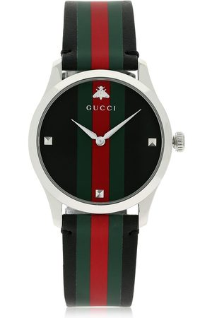 Gucci G-TIMELESS LEATHER WATCH