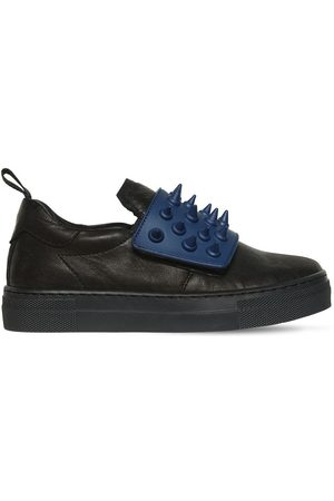 AM 66 SPIKES NAPPA LEATHER SNEAKERS