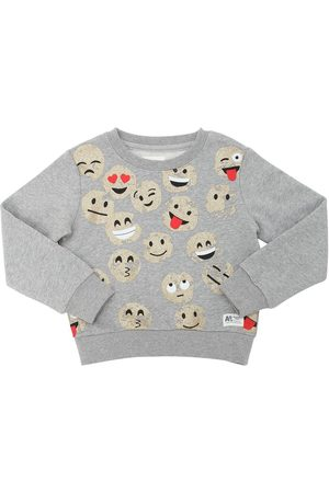 American Outfitters GLITTERED SMILES COTTON SWEATSHIRT