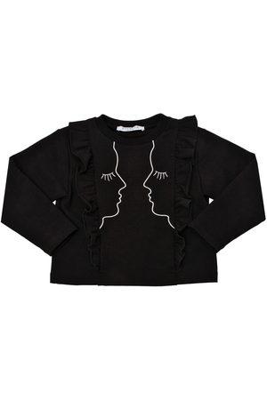 VIVETTA Girls Sweatshirts - EMBROIDERED COTTON SWEATSHIRT