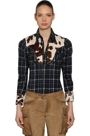 Dsquared2 Cowgirl Cotton Plaid Shirt