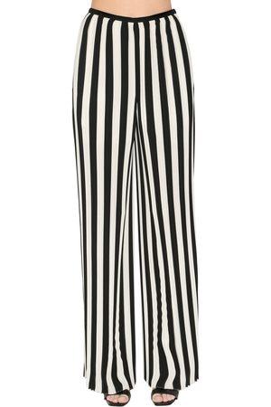 KRIZIA Pleated Stripe Chiffon Pants