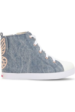 SOPHIA WEBSTER Girls Sneakers - Bibi Embroidered High Top Sneakers