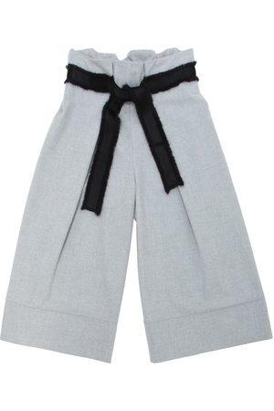 Unlabel Light Flannel Pants W/ Fringed Belt