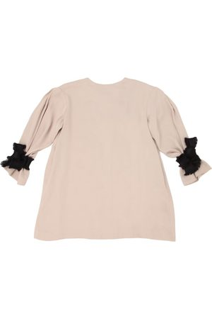 Unlabel Viscose Satin Dress W/ Fringed Ties