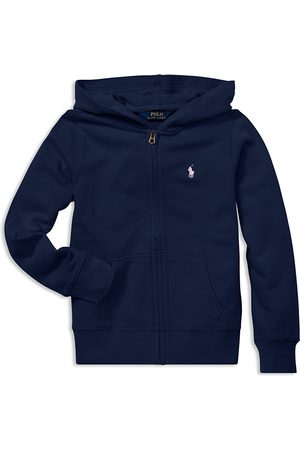 Ralph Lauren Polo Girls' French Terry Zip-Up Hoodie - Big Kid