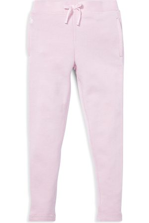 Ralph Lauren Polo Girls' French Terry Sweatpants - Little Kid