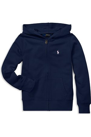 Ralph Lauren Polo Girls' French Terry Zip-Up Hoodie - Little Kid