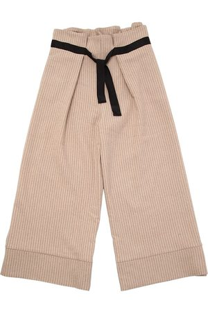 Unlabel Wool Blend Pinstripe Pants W/ Belt