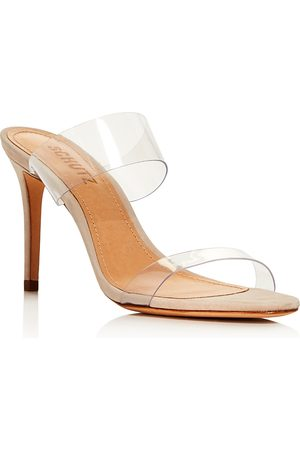 Schutz Women's Ariella Sheer Double-Strap Slide Sandals