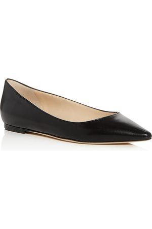 Jimmy choo Women's Romy Leather Pointed Toe Ballet Flats