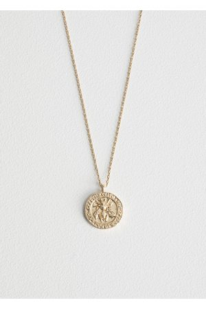 & OTHER STORIES Bee Embossed Pendant Necklace