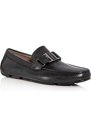 Salvatore Ferragamo Men's Sardegna Leather Moc Toe Drivers