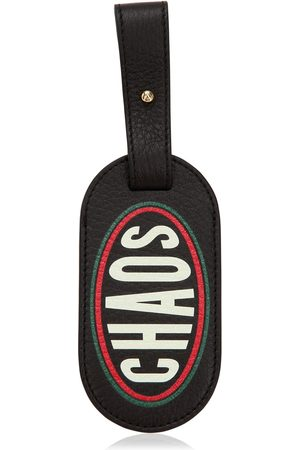 Chaos Logo Printed Leather Luggage Tag