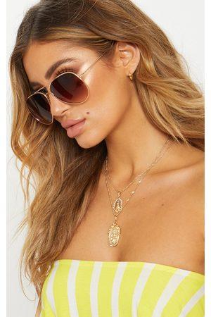 PRETTYLITTLETHING Metal Aviator Sunglasses