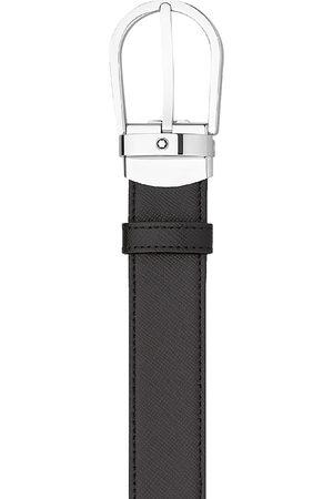 Mont Blanc Men's Reversible Saffiano Leather Belt