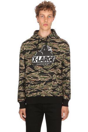 X-Large TIGER CAMO OG HOODED COTTON SWEATSHIRT