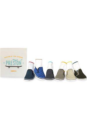 Trumpette Sets - Boys' Preston Skater Sneakers Print Socks, Set of 6 - Baby
