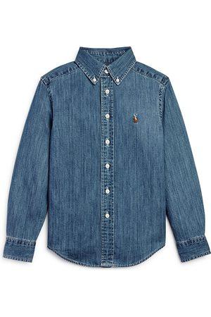 Ralph Lauren Boys' Denim Button-Down Shirt - Big Kid