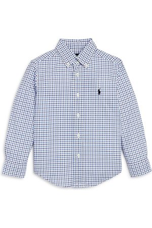 Ralph Lauren Boys' Windowpane Check Button-Down Shirt - Little Kid