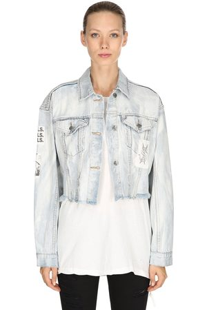KSUBI Women Denim Jackets - Daggerz Jacket Broadcast Denim Jacket