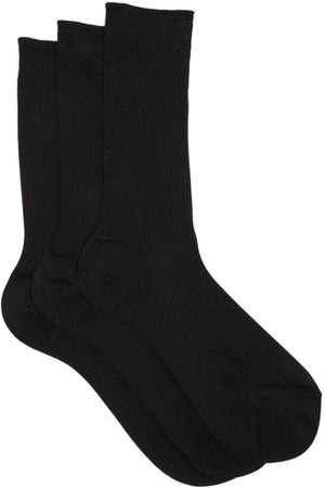 Raey Pack Of Three Silk Socks - Womens