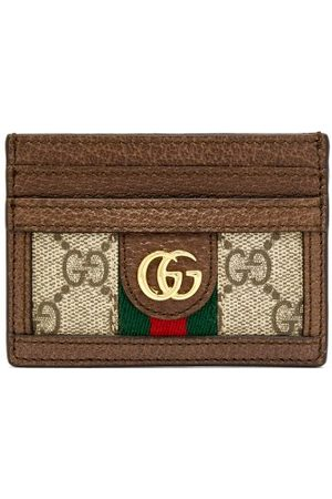 Gucci Ophidia Gg Plaque Leather Cardholder - Womens - Multi