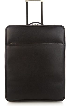VALEXTRA Leather Cabin Suitcase - Womens - Grey